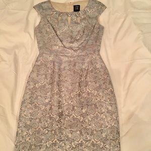 Gorgeous Pale Blue Dress w/embellished neckline